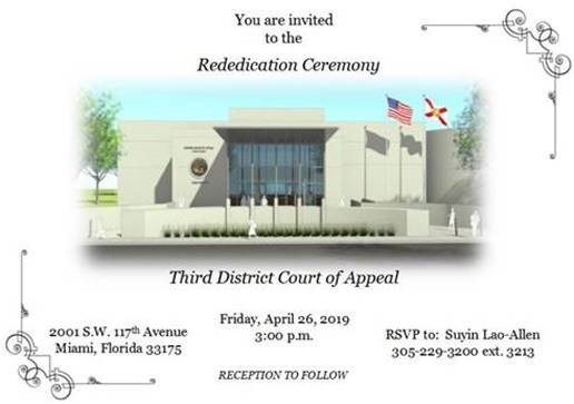 3rd District Court of Appeal Renovation Rendering